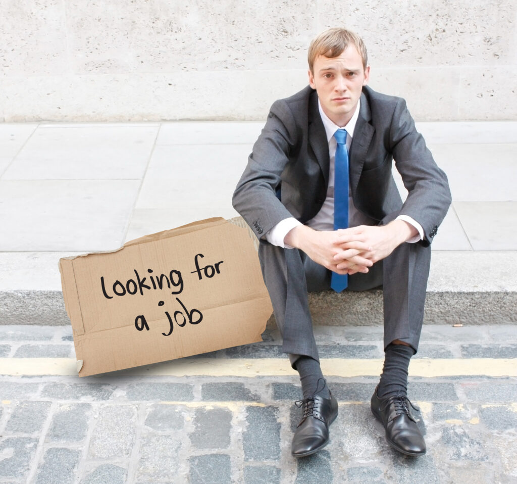 Jobsøgende mand